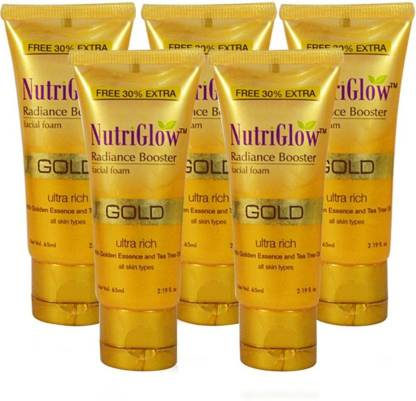 NutriGlow Gold Radiance Booster Facial Foam  Pack Of 5
