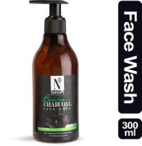 NutriGlow Natural's Bamboo & Charcoal Face Wash With Bamboo Charcoal Powder | Sandal Wood With Tea Tree | Skin Lightening | Removes Blackheads | _300 ML