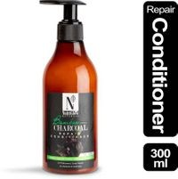 NutriGlow Natural's Bamboo & Charcoal Repair Conditioner With Bamboo Charcoal Powder | Jojoba with Argan Oil | DHT Blockers | Scalp Repair | No Parabens & Sulphates_300 ML