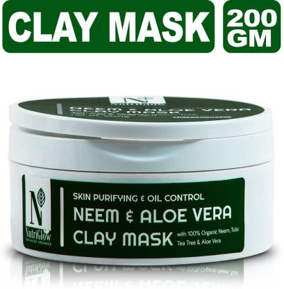 NutriGlow Advanced Organics Neem & Aloe Vera Clay Mask _200 GM