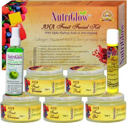 NutriGlow AHA Fruit Facial Kit _310 GM