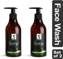 NutriGlow Natural's Bamboo & Charcoal Face Wash |Sandal Wood |Tea Tree |Skin Lightening Face Wash (600 ml)