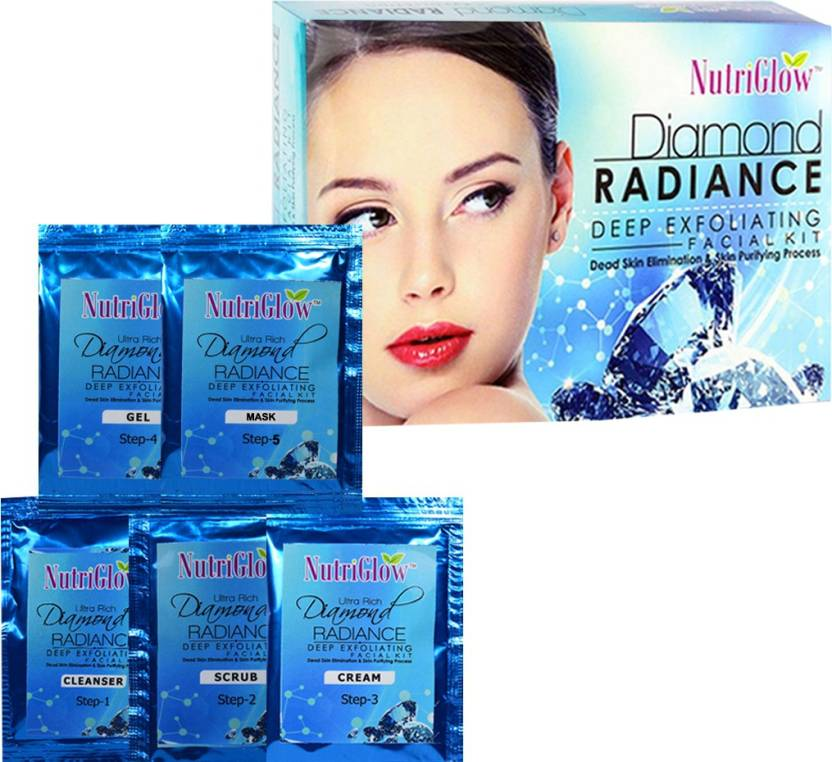 NutriGlow Diamond Radiance Deep Exfoliating Facial Kit Pouches_55 GM
