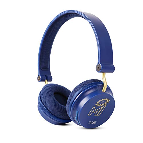 Boat Mumbai Indians Edition Rockerz 400 Bluetooth Wireless Headphone (Blue)