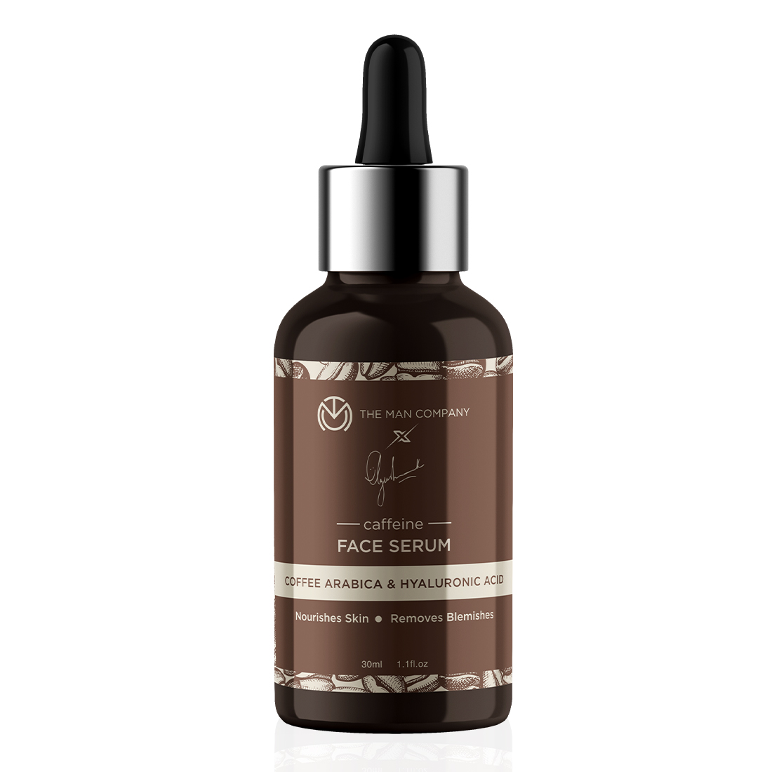 The Man Company Caffeine Face Serum by Ayushmann Khurrana with Coffee Arabica and Hyaluronic Acid (30 ml)