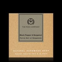 The Man Company skin brightening Soap with Blackpepper and Bergamot (125 gm)