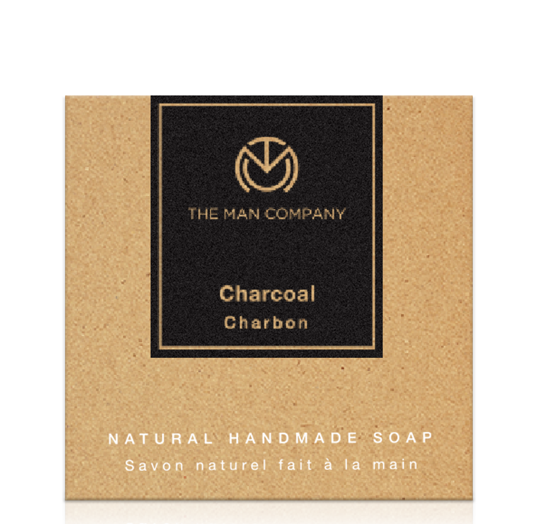 The Man Company Charcoal Soap (125 gm) - 100% Natural, Removes Blackheads