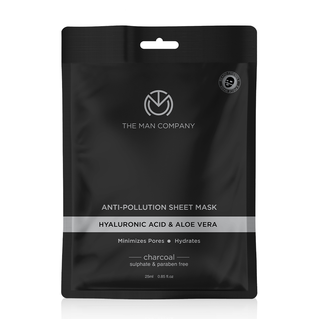 The Man Company Charcoal Face Sheet Mask - 25 ml (Pack of 2)