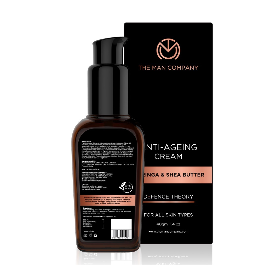 The Man Company Anti Ageing Anti wrinkle night cream for men - 40 gm
