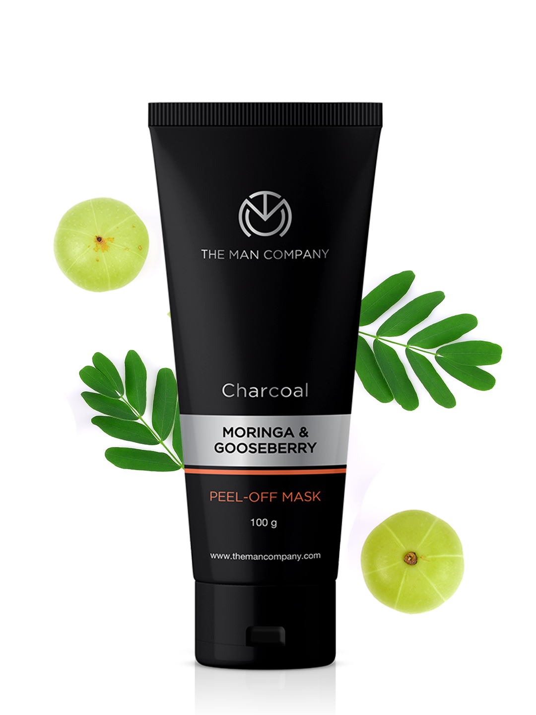 The Man Company Activated Charcoal Peel off Mask Dead skin and blackheads removal face mask, [2x100g] Charcoal, Moringa and Gooseberry …