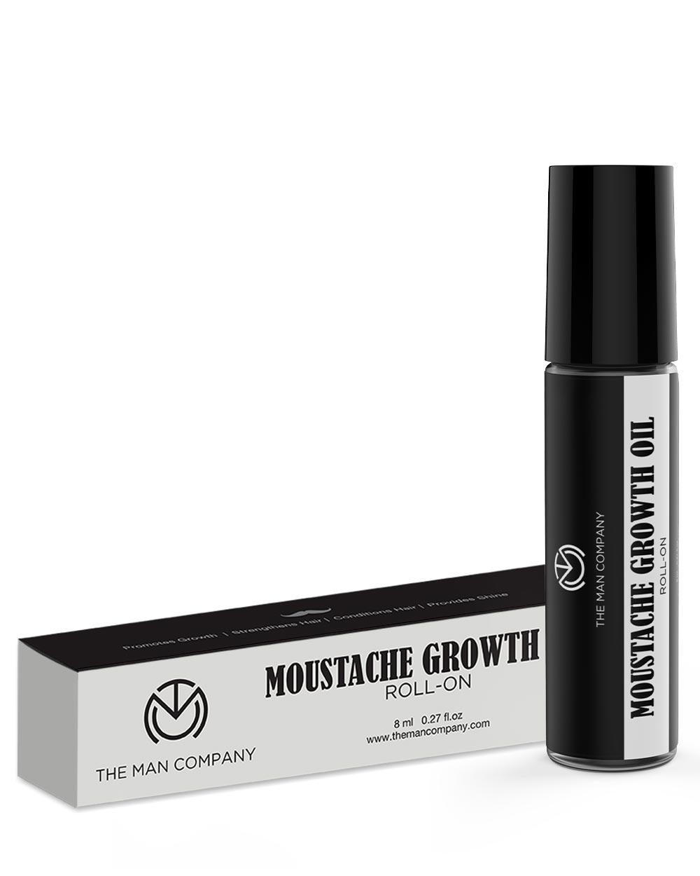 The Man Company Skin Brightening Cream + Mustache Growth Roll on