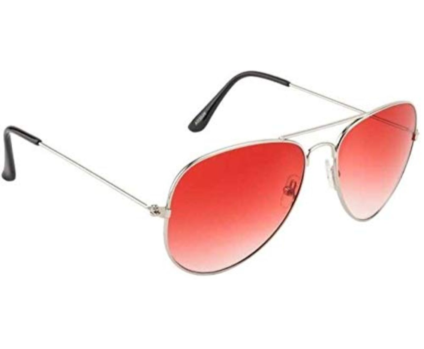 ETRG Unisex Premium  Aviators Red Metal Sunglasses (Pack of 2)