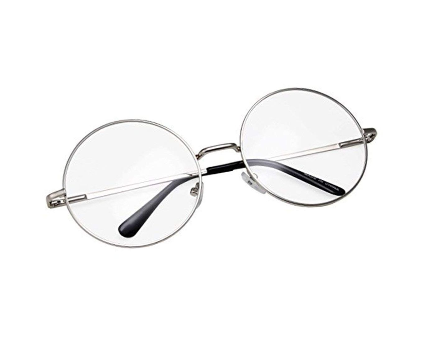 ETRG Unisex Premium  Round Frames Clear Metal Sunglasses (Pack of 2)