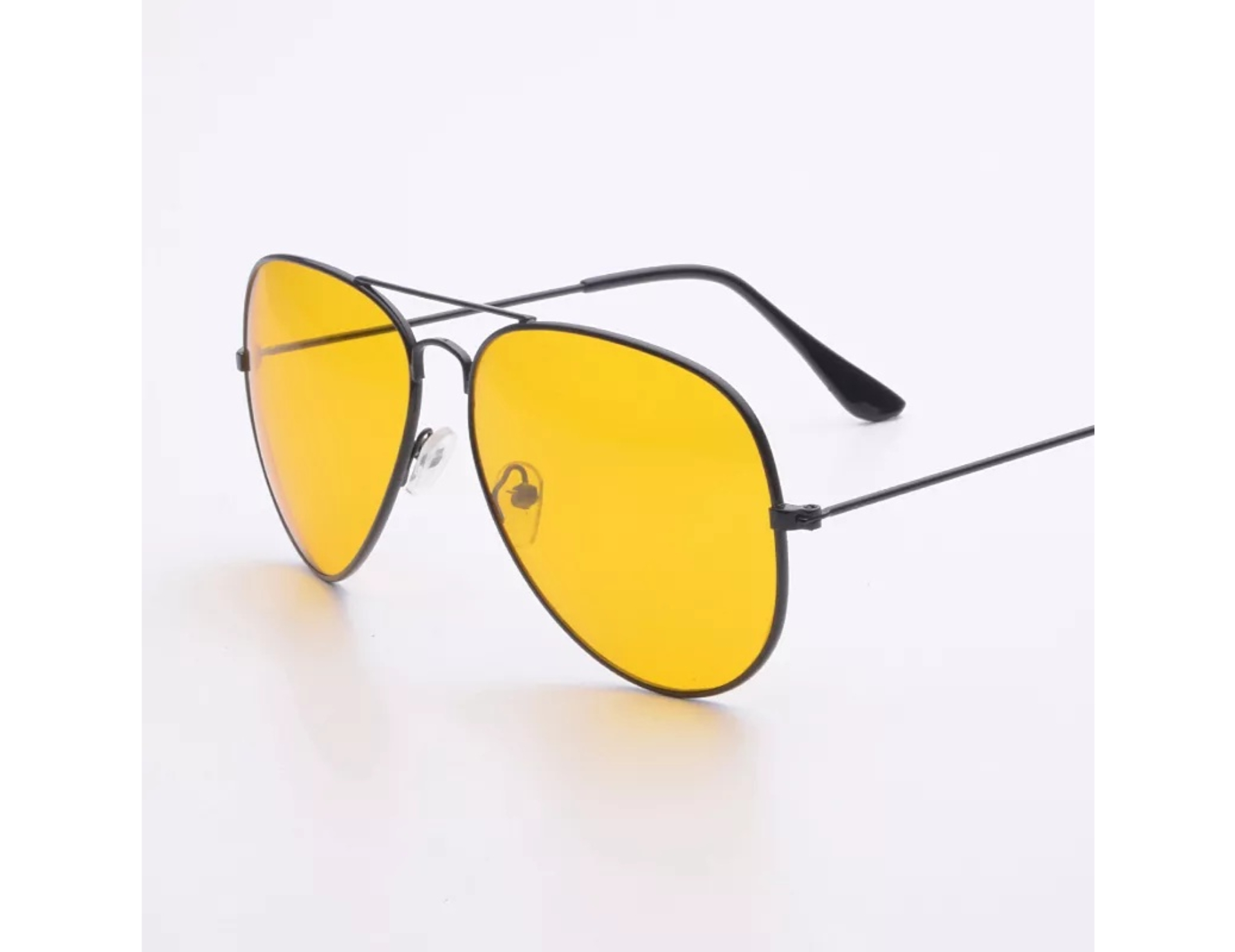 ETRG Unisex Premium  Aviators Yellow Metal Sunglasses (Pack of 2)
