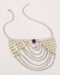 Voylla Silver Plated Cluster Pearl Necklace from Pearl Galleria