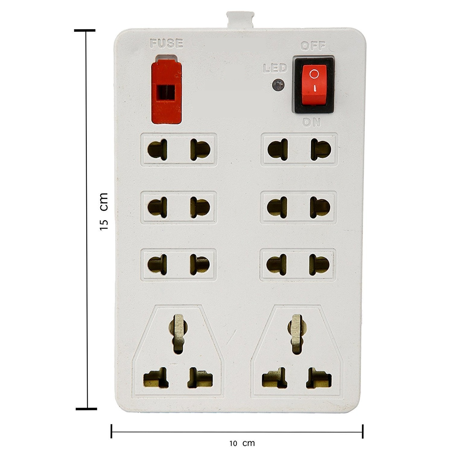 Mini 8+1 Socket Extension Board -2.5 Mtr wire