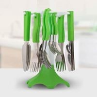 Home Turf Trendy Cutlery Set - Green