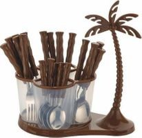 Home Turf Antic Cutlery Set of 24 Pcs - Brown