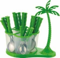 Home Turf Antic Cutlery Set of 24 Pcs - Green