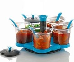 Home Turf Multipurpose Aachar Masala stand - Blue