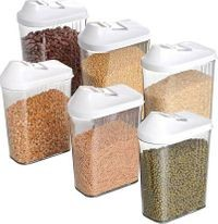 Home Turf Easy Flow Container 1700 ML Set - 6 Pcs - White