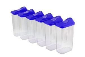 Home Turf Easy Flow Container 1100 ML Set - 6 Pcs - Violet