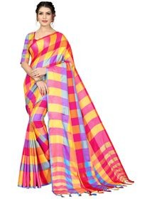 Mamta Pink Cotton Silk Woven Saree with Blouse