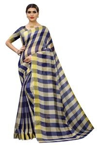 Mamta Light Blue Cotton Silk Woven Saree with Blouse