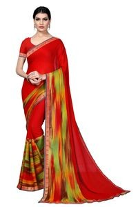 Mamta Multicolor Crepe Georgette Printed Saree with Blouse