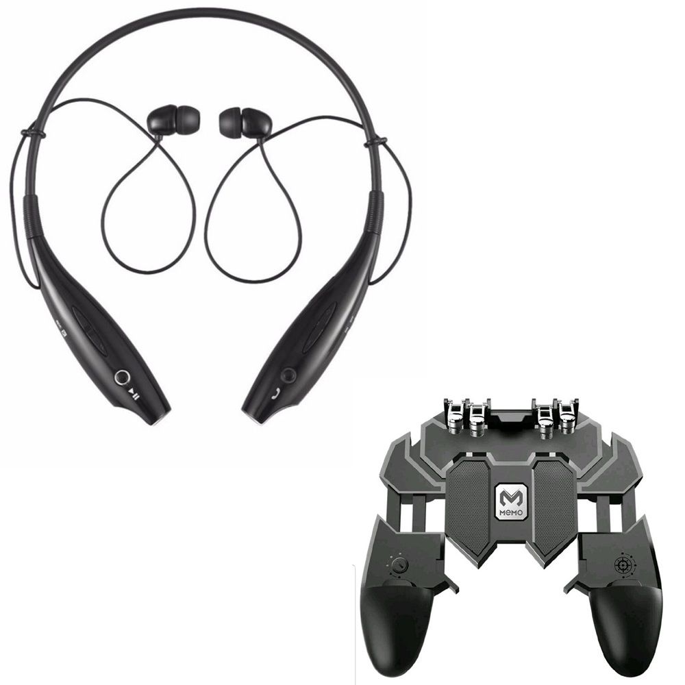 Freckle HBS-730 Neckband Bluetooth Headphones Wireless Headsets With AK66 Six Finger All-in-One Mobile Game Controller