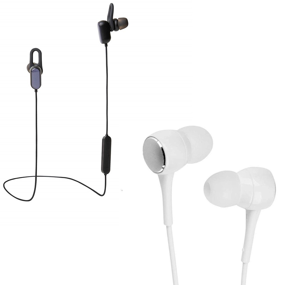 Freckle Sports Bluetooth Earphones Dynamic Bass Sweat Proof Headset With P1000 Earphones Wired Stereo Bass Head Headsets Earbuds.