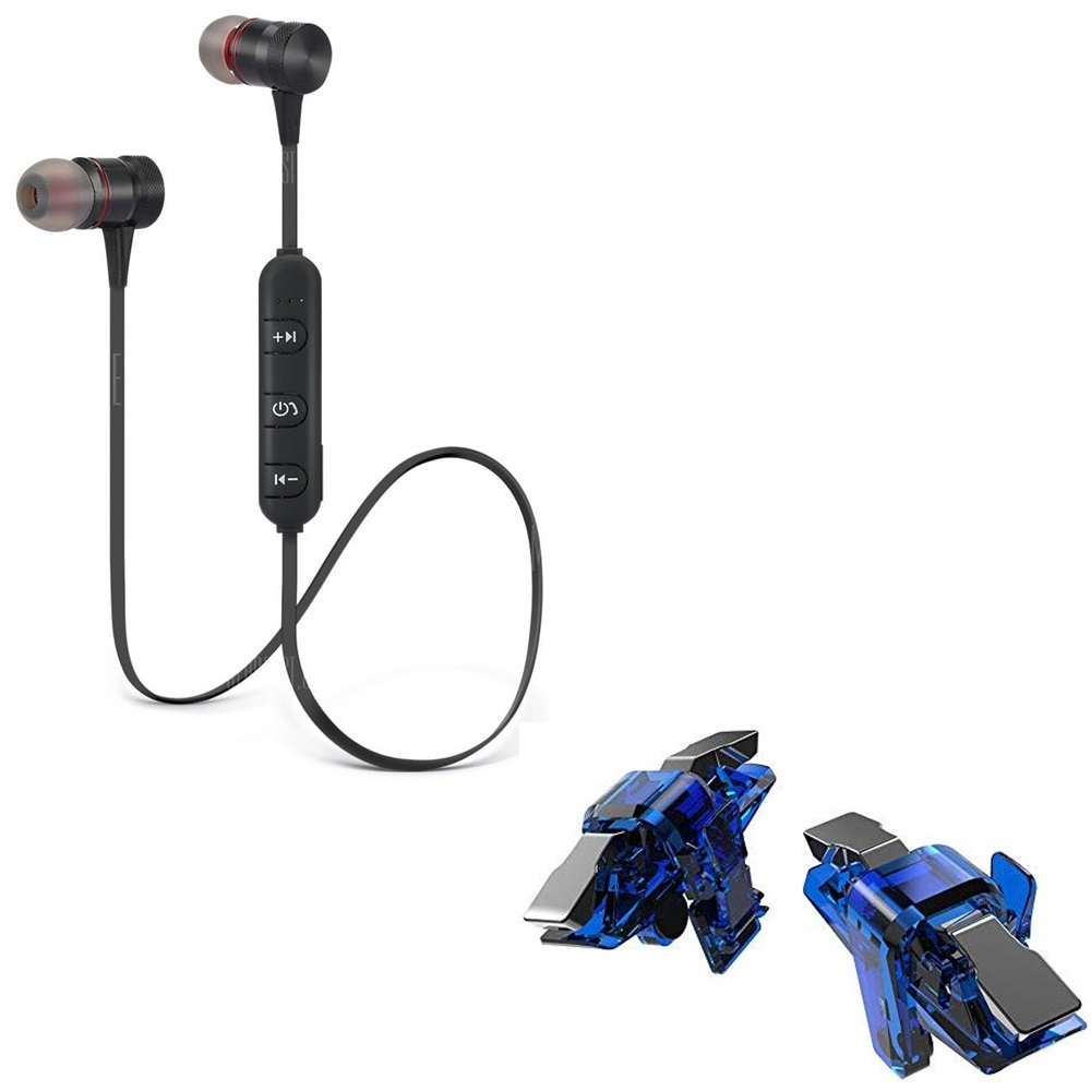 Freckle Wireless Sport Bluetooth Magnet Headset HandsFree Headphone With Thanos X7 Trigger Battle Royale Sensitive Shoot and Aim