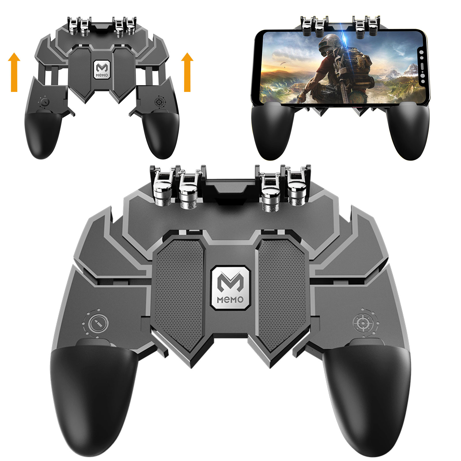 Freckle AK66 Mobiles Phone Game Controller Shooter Gamepad Fire Button With Mini Magnetic Car Dashboard Mount Mobile Holder.