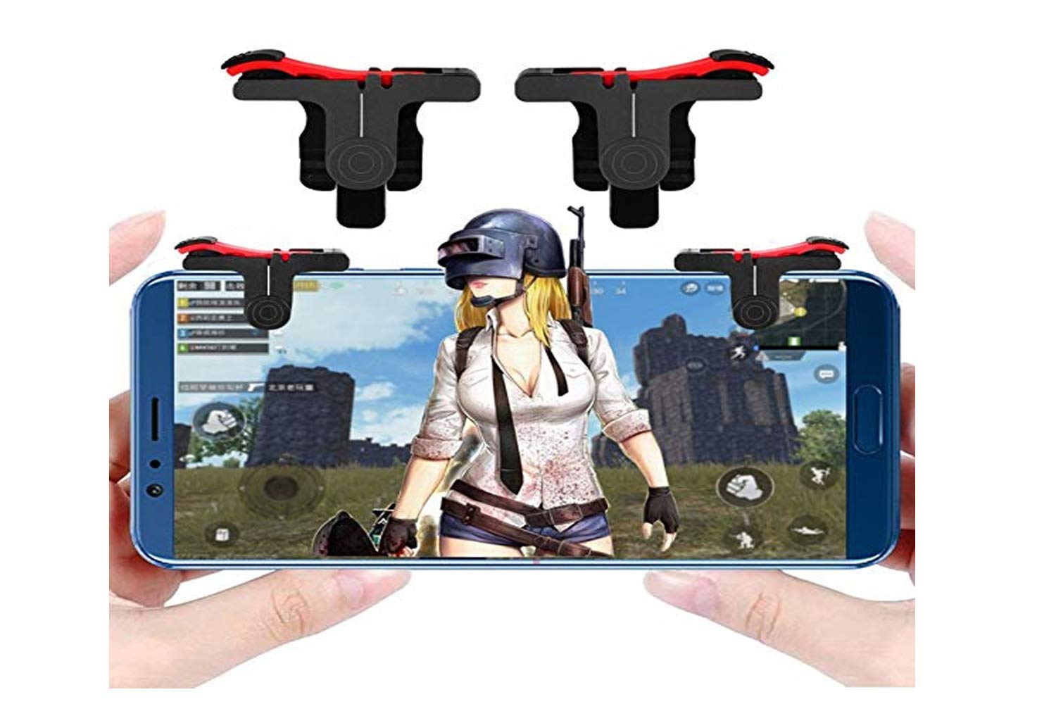PUBG red black Trigger Mobile Gaming Controller Button triggers for all Smart Phone