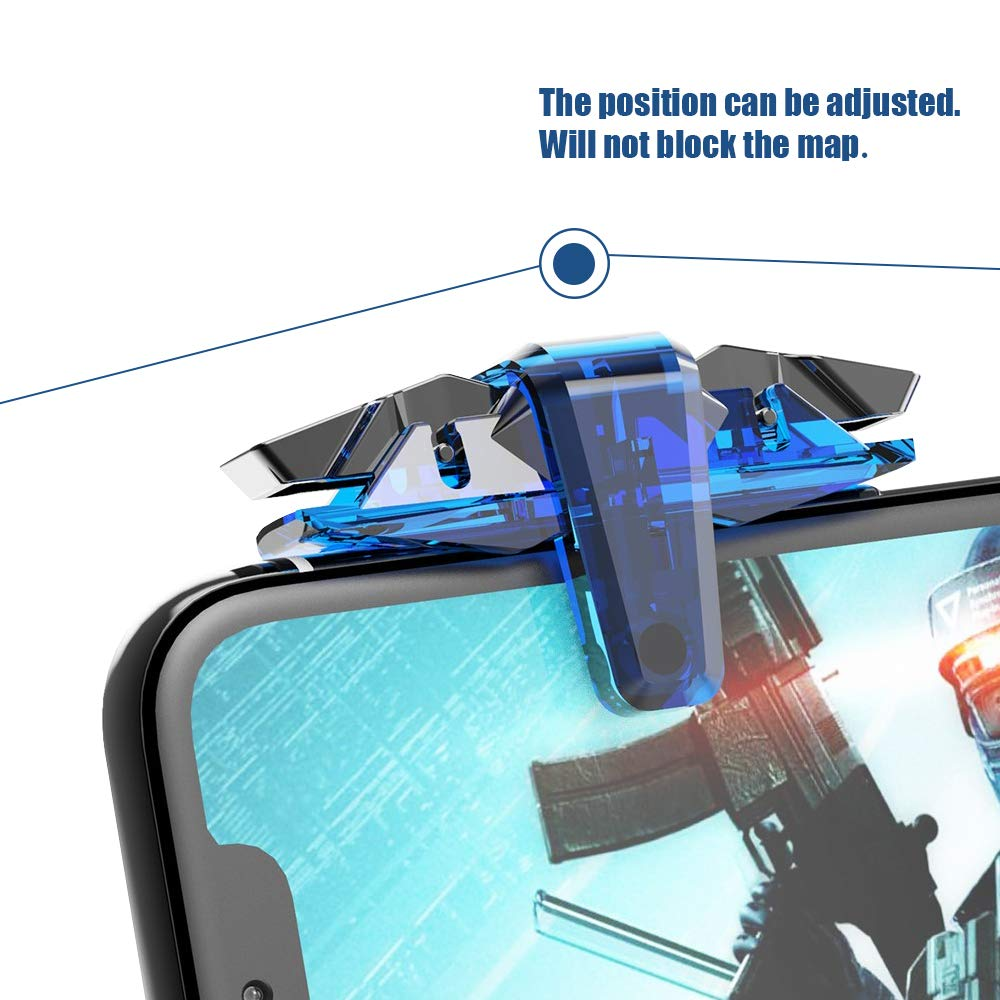 Freckle X7 Gaming Controller Buttons Triggers Sensitive Shoot and Aim With Mini Magnetic Car Dashboard Mount Mobile Holder.