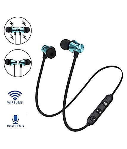 Rednix Bluetooth Magnet Headset Sports Headphone with Microphone Stereo Magnetic Earphones
