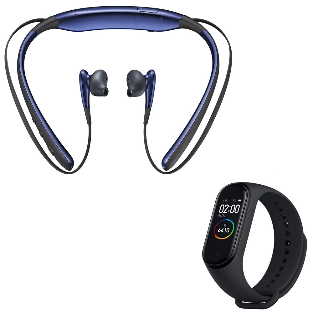 Rednix Level-U Wireless Bluetooth Headsets in-Ear Handfree Headphones With M4 Band Intelligence Bluetooth Health WristSmart Band