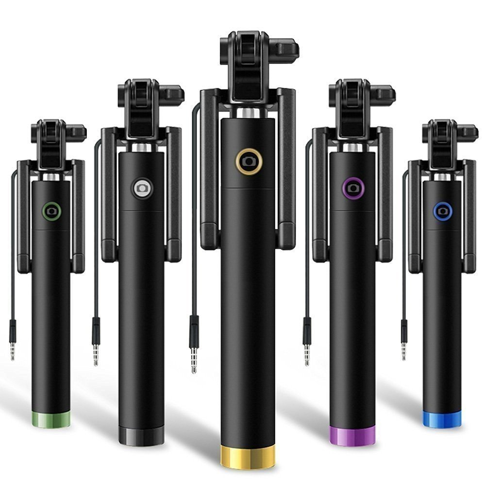 Rednix Monopod Selfie Sticks with Aux Wire for All Smart Phones