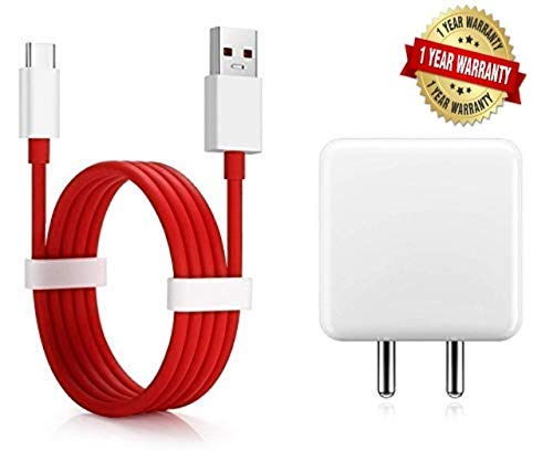 Rednix Dash Power Charger 5V 4A Adapter with Type C USB Dash Fast Charging Cable Compatible with OnePlus 6T/6/5T/5/3T/3 (Charger +Cable)