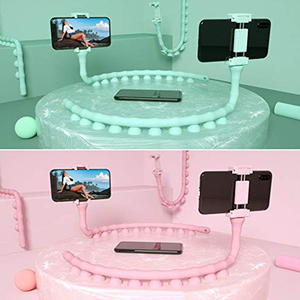 Rednix Cartoon Cute Worm Lazy Cell Phone Holder Stand 360 Rotating Bendable Flexible Suction Cup Phone Mount Clamp Creative Lazy Bracket