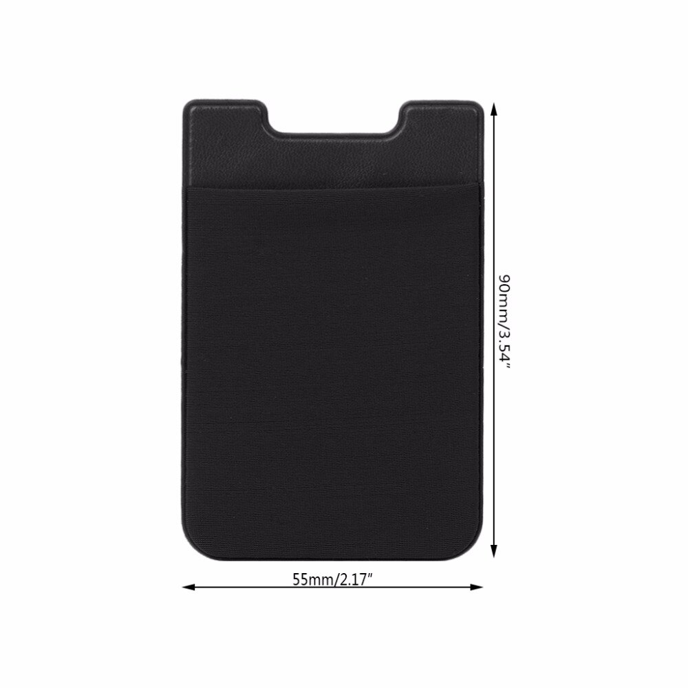 REDNIX  Ultra Thin Stick-on Silicone Credit Card Holder Sticker Adhesive Cell Phone Wallet Compatible for All Smartphones