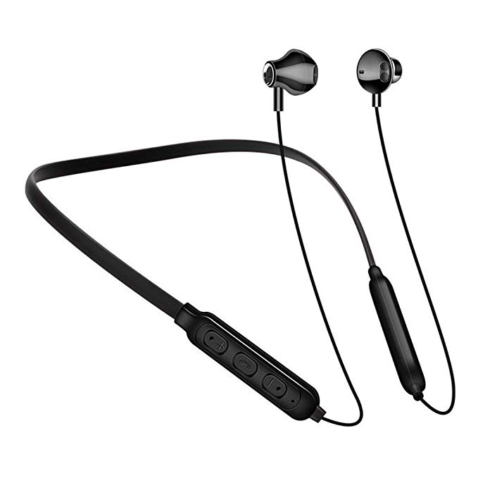 Rednix A10 Wireless Magnetic Bluetooth Neckband Earphones Headset with Mic Compatible with all Bluetooth Mobiles.