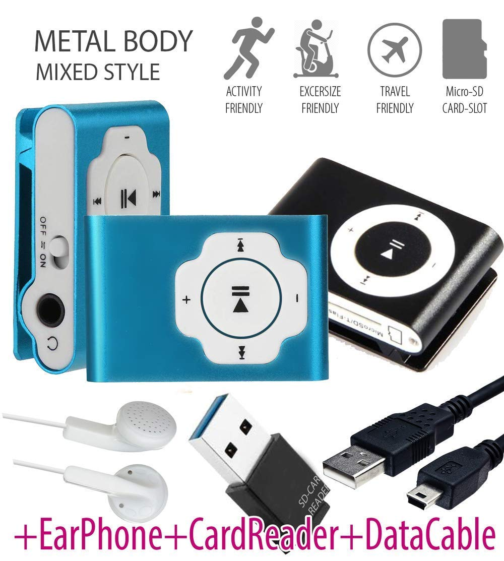 Rednix MP3 Music Media Player Metal Body with TF/SD Memory Card Slot Digital MP3 Music Media Player