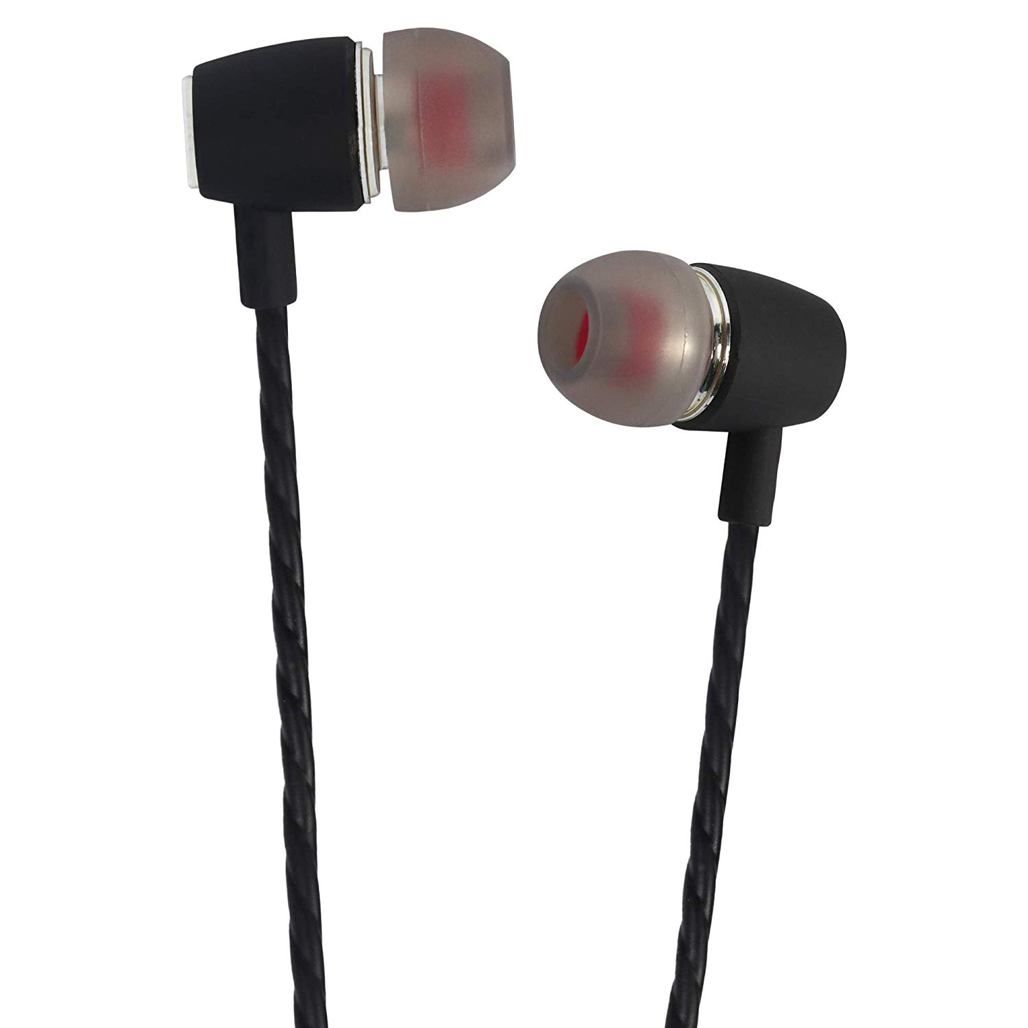 Rednix Noise Isolating in-Ear Headphones with Pure Sound and Powerful Bass, Earbuds with High Sensitivity Microphone and Volume Control, Headphones - Black