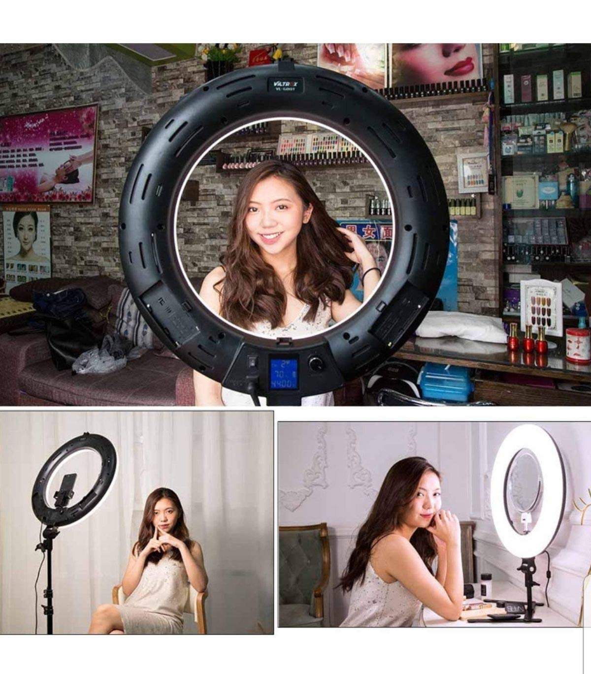 Rednix (DRL-18) 18 inch Professional LED Ring Light for Making Your Videos/Images More Professional, for TIK-tok Videos, YouTube Video Shoot, Best Makeup Shoot, Musically, Instagram & Many More.