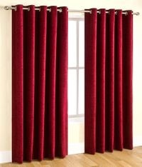 Homelogy Pack of 2 Crush Curtain Maroon
