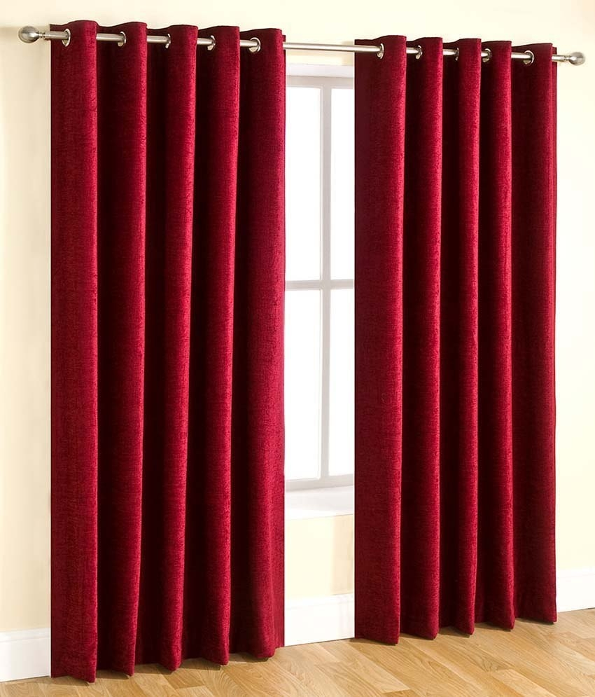 Homelogy Single Piece Crush Curtain Maroon