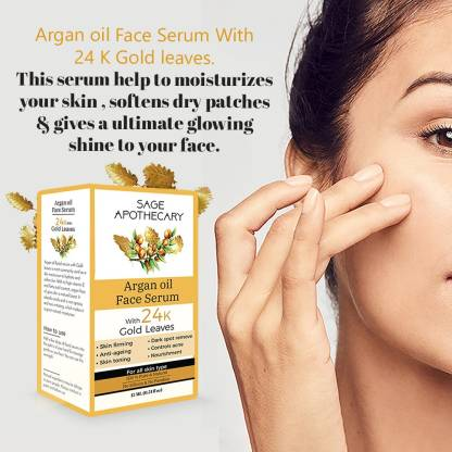Sage Apothecary Argan Face Oil with Gold