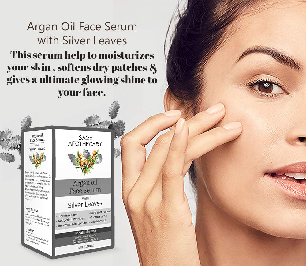 Sage Apothecary Argan Face Oil with Silver