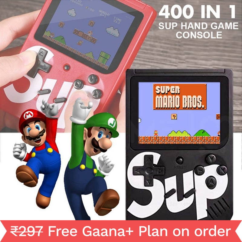 SUP 400 in 1 Games Retro Game Box Console Handheld Game PAD Gamebox (MULTICOLOUR)